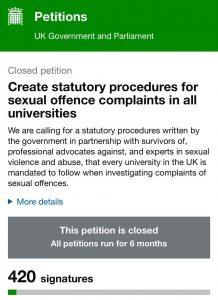 طالبات يقدمن شكوى بسبب الاعتداء الجنسي في الجامعات