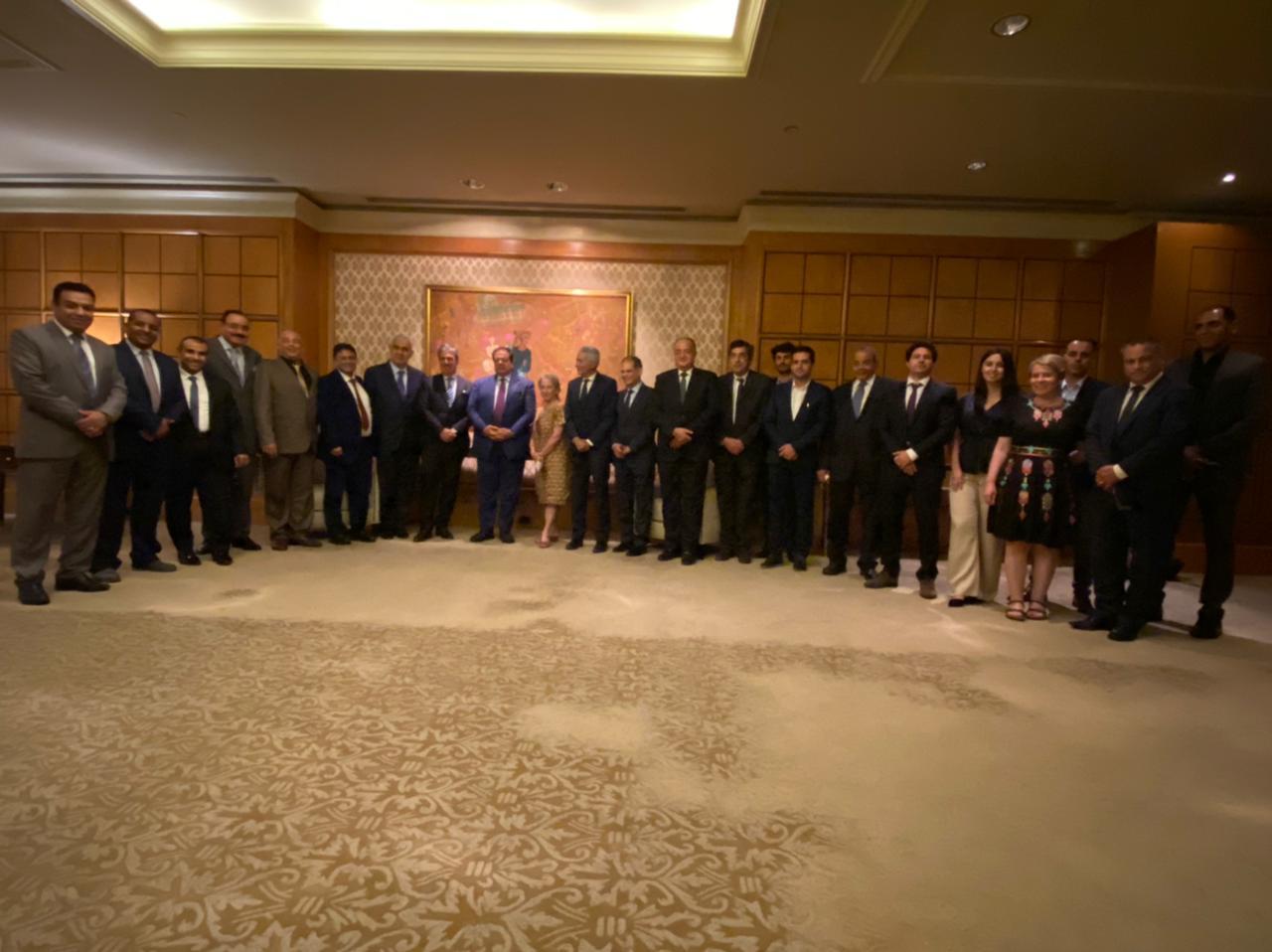 """""""أبو العينين"""" للمجلس المصري البرتغالي: بلدنا يشهد طفرة في مختلف القطاعات"""