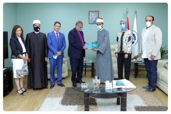 وحدة بحث مشيخة الأزهر تلتقي رئيس الطائفة الإنجيلية بمصر