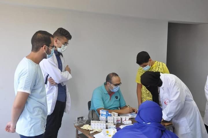 جامعة كفر الشيخ تنظم قافلة شاملة في قرية بني بكار