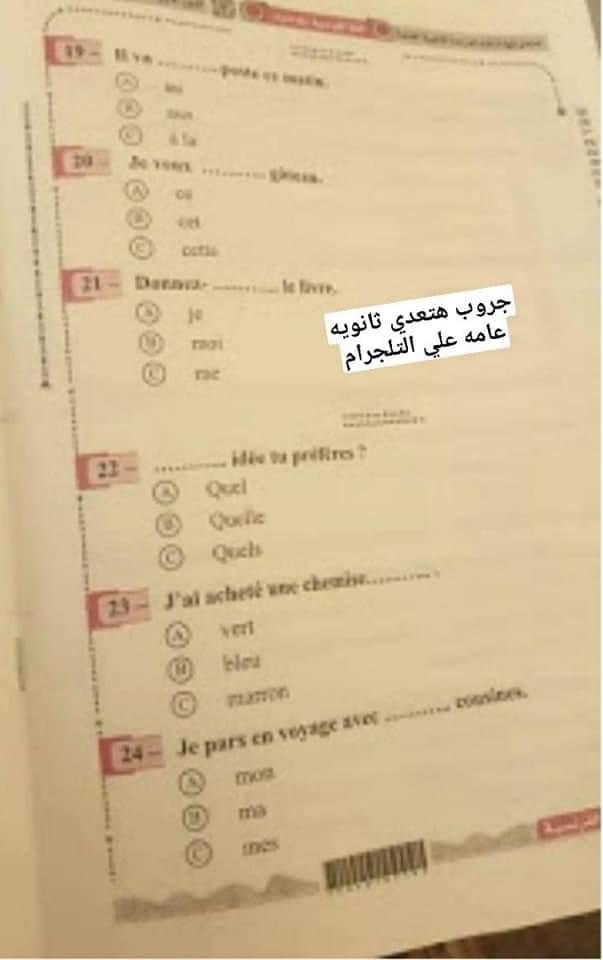 مجموعات الغش تتداول صور لامتحان اللغة الفرنسية عبر التليجرام