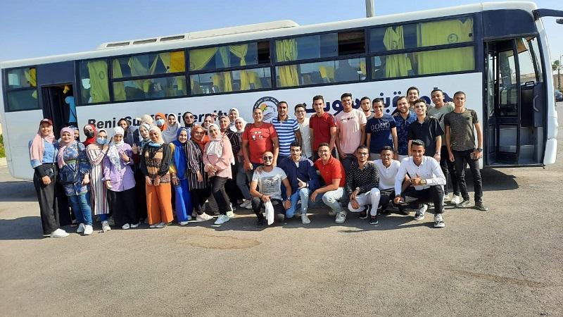 تنظيم رحلات طلابية لمعرض للكتاب بجامعة بني سويف