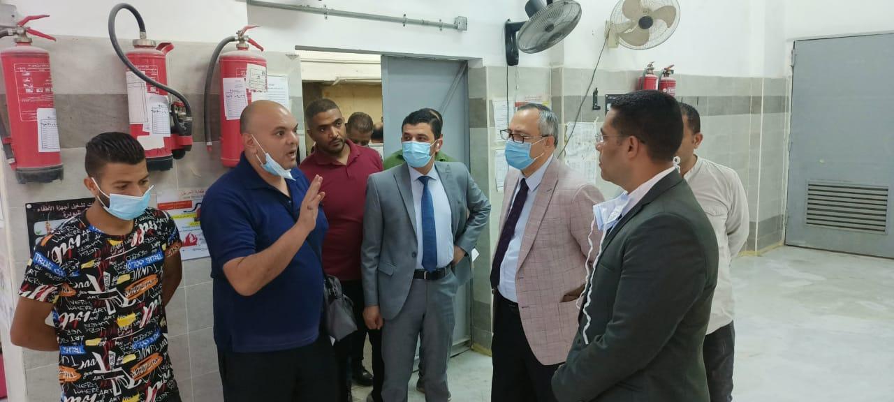 عميد كلية طب الأزهر يتابع أعمال التطوير بمستشفى الحسين الجامعي
