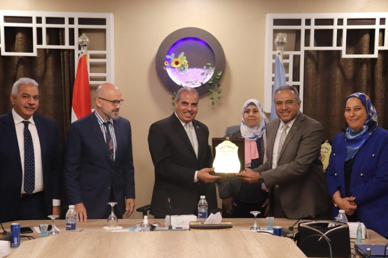 رئيس جامعة الأزهر يوقع بروتوكول تعاون مع مركز التميز بوزارة الإنتاج الحربي