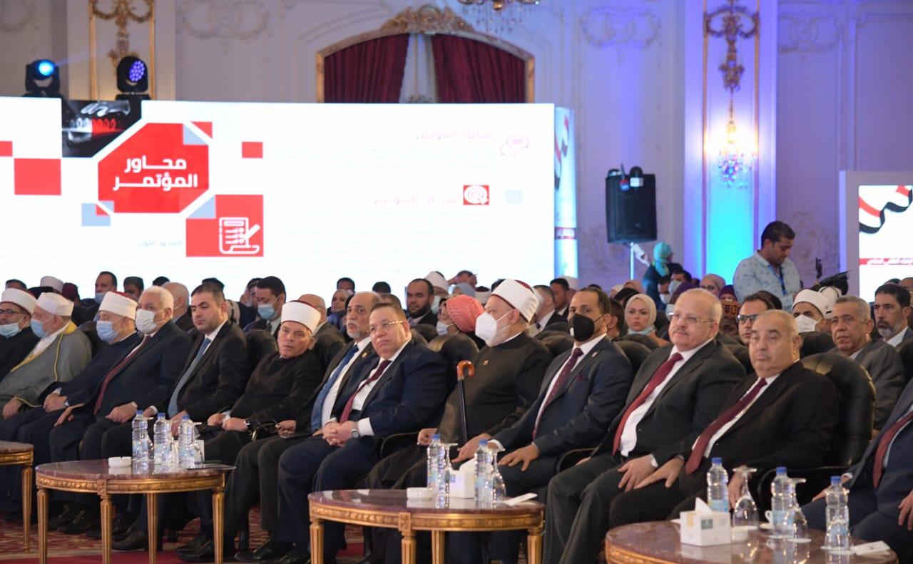 الجلسة الافتتاحية للمؤتمر العالمي السادس والذى تنظمه الأمانة العامة لدور وهيئات الإفتاء في العالم، تحت عنوان «مؤسسات الفتوى في العصر الرقمي، تحديات التطوير وآليات التعاون»