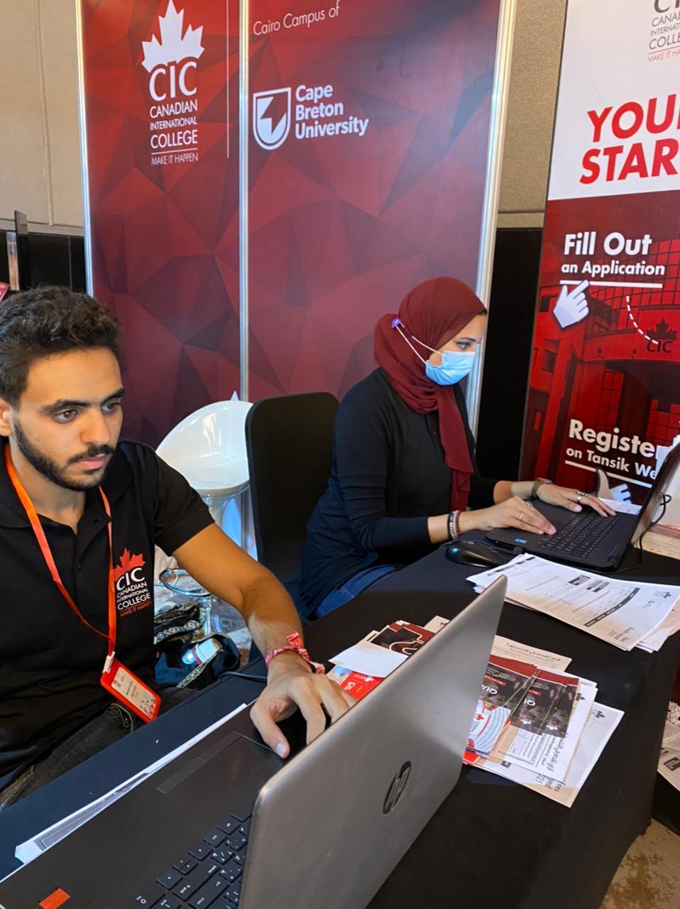 المعهد الكندي cic يستعرض برامجه وشهادته المشتركة خلال مشاركته في معرض اديوجيت