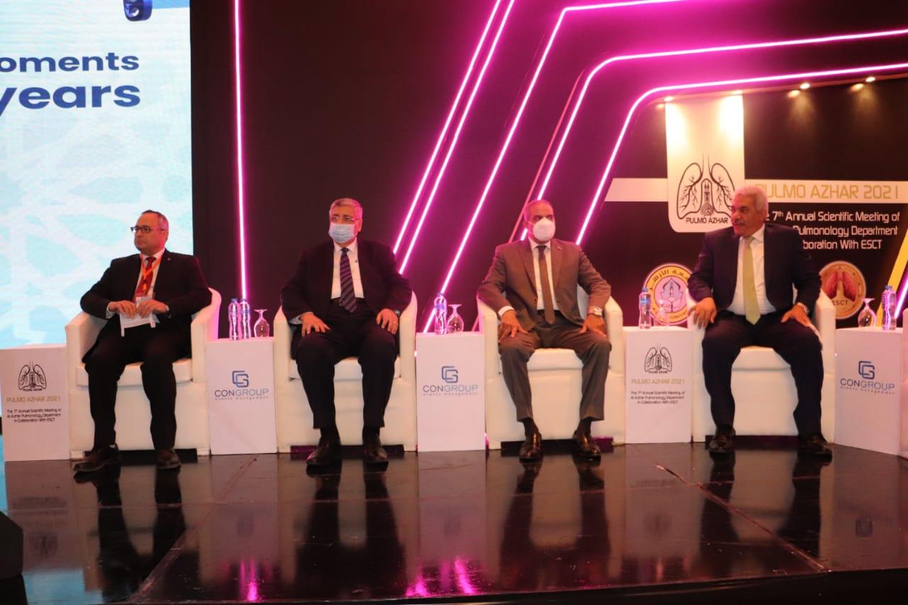 رئيس جامعة الأزهر ومستشار رئيس الجمهورية يفتتحان المؤتمر السابع للأمراض الصدرية
