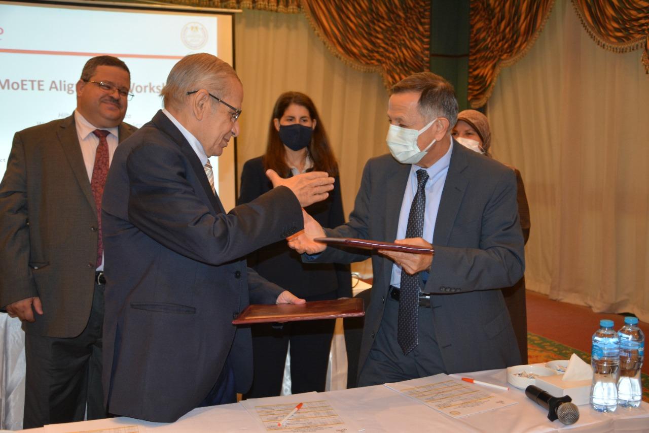 """""""التعليم"""" تدشن اتفاقية تعاون مع مشروع قوى عاملة مصر Workforce Egypt"""