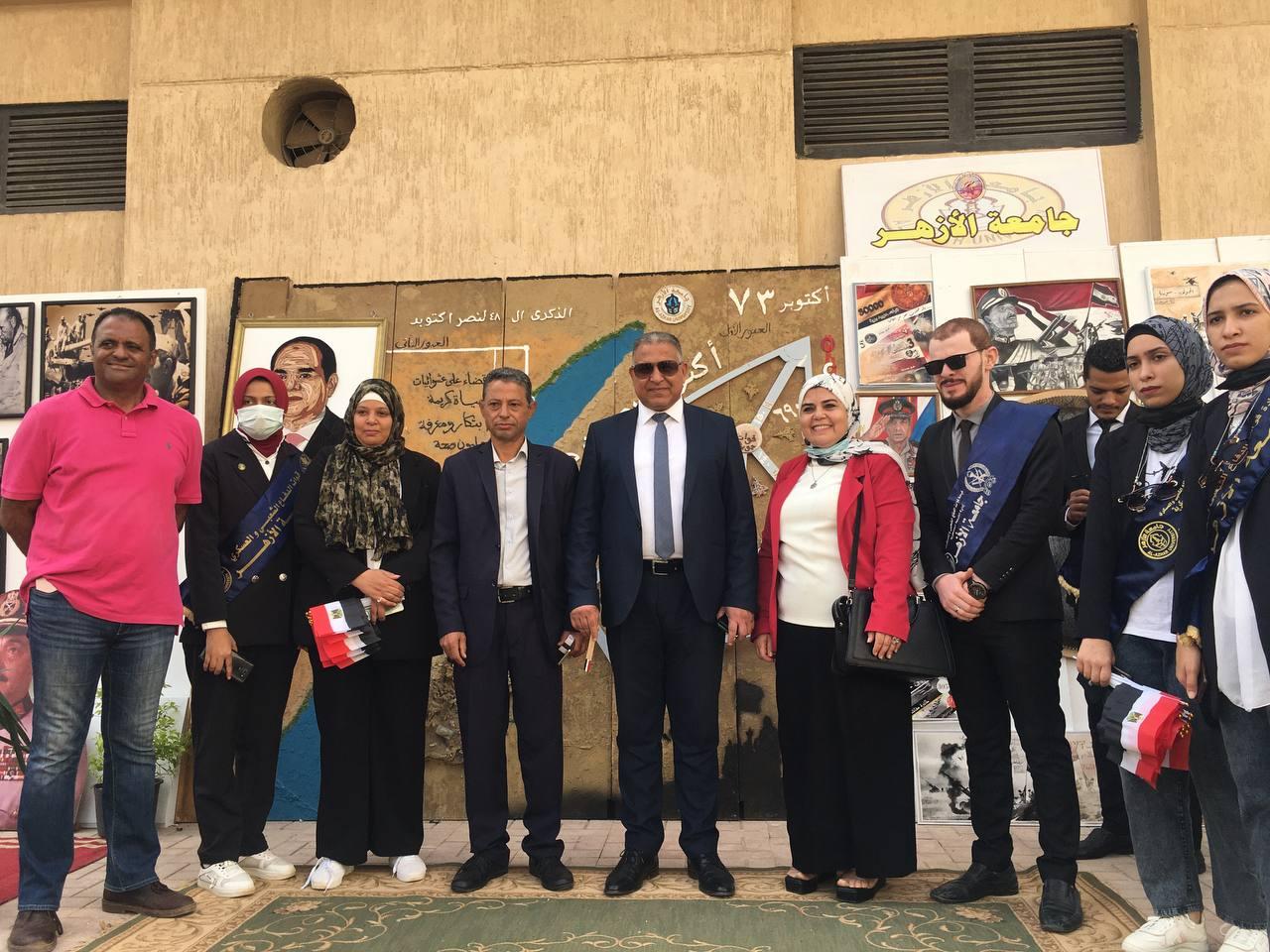 نائب رئيس جامعة الأزهر يشارك في الاحتفال بذكرى انتصارات أكتوبر
